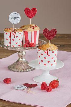 Veganpassion: Muffins mit Erdbeeren und Joghurt