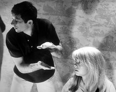 Roman Polanski works out a shot of Catherine Deneuve for Repulsion