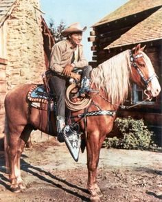 """Trigger - Roy Roger's golden palomino, Trigger (born 1932) was called """"The Smartest Horse in the Movies"""" because of his ability to perform a variety of tricks (some 60) including counting, doing the hula, untying ropes, knocking on doors and walking on his hind quarters."""