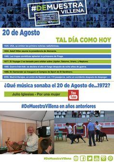 TAL DÍA COMO HOY. 20 de Agosto. #DeMuestraVillena  www.muestravillena.villena.es www.facebook.com/Muestravillena @muestravillena