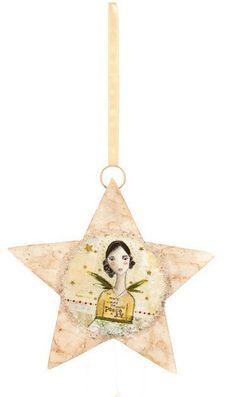 homedecor4seasons Capiz Star Angel Ornament - Christmas - Seasonal homedecor4seasons