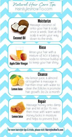 Natural Hair Care Tips - To keep your hair healthy, looking shiny, feeling soft.