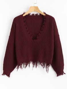 GET $50 NOW | Join Zaful: Get YOUR $50 NOW!https://m.zaful.com/loose-ripped-v-neck-sweater-p_422243.html?seid=t2buieqapnvq2jk74dpiri00b2zf422243