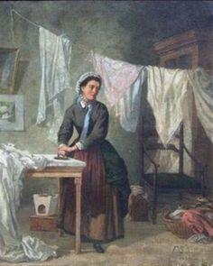 Frédéric Bazille - La repasseuse (1866)