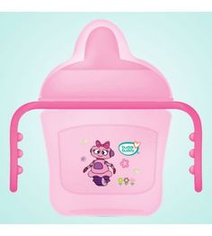 buddsbuddy Premium 2 Handle Sippy Cup with Hard Spout (Small), Pink, (Age: Baby Teethers, Baby Needs, Cooking Oil, Good Grips, Manners, Drinking Water, Cups, Handle, This Or That Questions