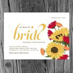 Tuscan Sunflower Bridal Shower Invitation  Italian by SnowAndIvy, $47.50
