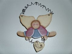 6 x 8 handmade wooden angel hanger by judypope on Etsy, $8.00