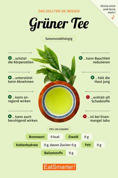 Green tea is an article with the latest information on a healthy lifestyle. Green tea is an article with the latest information on a healthy lifestyle. Diet And Nutrition, Nutrition Education, Nutrition Guide, Complete Nutrition, Proper Nutrition, Holistic Nutrition, Potato Nutrition, Smart Nutrition, Nutrition Tracker