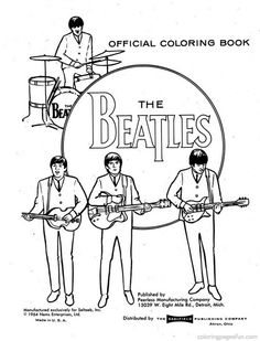 35 best Beatles Coloring Book images on Pinterest   The beatles ...