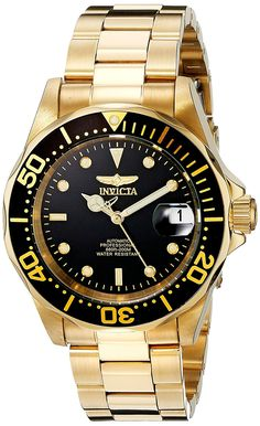 Invicta Men's 8929 Pro Diver Collection Automatic Gold-Tone Watch >>> To view further for this item, visit the image link. (This is an Amazon Affiliate link and I receive a commission for the sales)