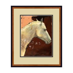 Unbridled beauty. Celebrate the refinement of the horse with this distinguished equine portrait. Rich orange and brick tones dappled with chocolate and black bring warmth and strong graphic interest to the wall it adorns. A striking piece alone or displayed with our In Profile gicl
