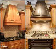 Kitchen Range Hood created with the help of Modern Masters' Metallic Paint Collection   Artist: Patricia Presto of On the Surface   Modern Mastery Feature