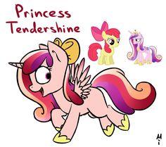 #801524 - apple bloom, artist:milchik, fusion, magical lesbian spawn, oc, offspring, princess cadance, safe - Derpibooru - My Little Pony: Friendship is Magic Imageboard