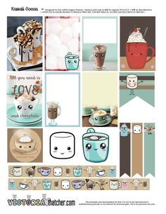 Kawaii Cocoa Planner Printable