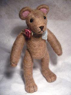 Rosie, Needle Felted Teddy Bear