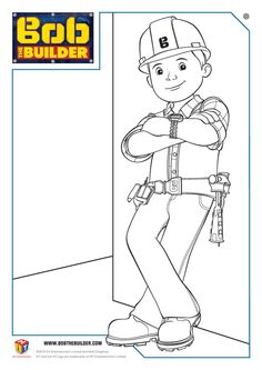 Bob The Builder Printable Coloring Pages Colouring Pages Pinterest