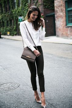 STREET STYLE WITH SMILE.BOARD BY MARIA FANO - mariafano.com - black and white outfit