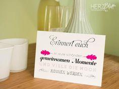 """Hochzeitskarten - Grußkarte """"Erinnert euch"""" - ein Designerstück von HERZ-Blatt bei DaWanda"""