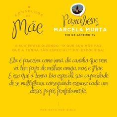 """Que rufem os tambores!!! E quem leva o premio da promoção  CONSELHOS DE MÃE  para casa é a:  """"MARCELA MURTA"""" - do Rio de Janeiro  Marcela toda equipe For Boys For Girls a parabeniza!  Você tem direito a R$300,00 em compras na Loja For Boys For Girl. (Física ou virtual www.forboys.com.br ) Obrigada a todos que participaram, em breve teremos mais promoções, AGUARDEM as novidadinhas. :*"""