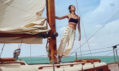 Nautical Style: Luma Grothe Poses for Danny Cardozo in Harper's Bazaar Mexico - Fashion Gone Rogue