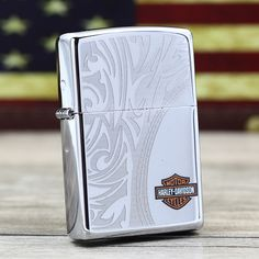 Zippo Harley Davidson Polished Chrome With Shield Lighter