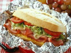 Hot Ham and Pepper Cheese Hoagies recipe