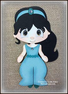 Disney princesa jazmín Premade Scrapbooking adorno papel Piecing