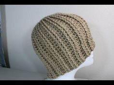 #Crochet rib hat - YouTube