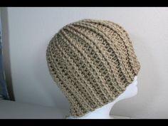 #Crochet rib hat ~Video tutorial by Yolanda Soto Lopez~ **Try for a hat for Ian~