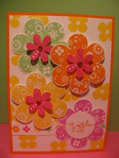 Bright Printed Petals by Kiff - Cards and Paper Crafts at Splitcoaststampers