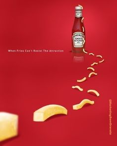 Heinz Tomato Ketchup: If frieze of attraction .- Heinz Tomato Ketchup: Wenn Fries der Attraktion nicht widersteh… Heinz Tomato Ketchup: If frieze of attraction can not resist – the - Creative Advertising, Ads Creative, Creative Posters, Advertising Poster, Advertising Design, Marketing And Advertising, Best Advertising Campaigns, Advertisement Examples, Food Advertising