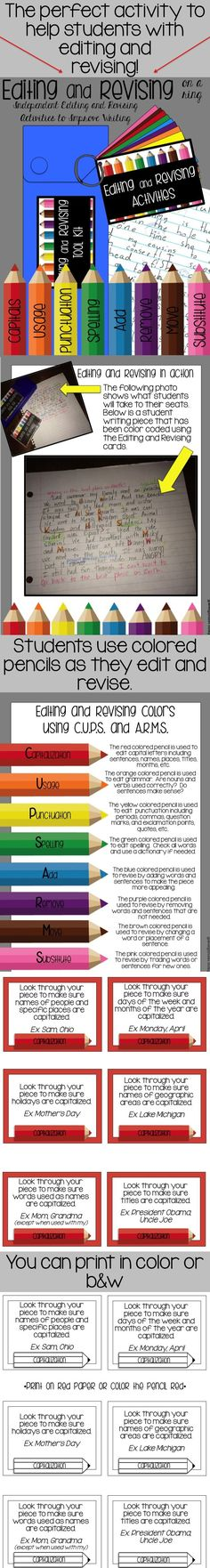 Great way for students to learn to edit and revise their writing!!