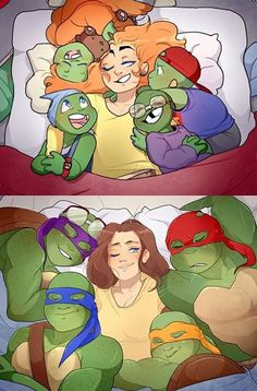 Sleepy turtles TMNT