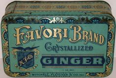 Vintage-tin-FAVORI-BRAND-CRYSTALLIZED-GINGER-Mitchell-Fletcher-Co-Philadelphia