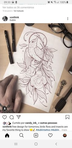 Tattoo Design Drawings, Tattoo Sketches, Tattoo Designs, Book Tattoo, I Tattoo, Sugar Tattoo, Tattoo Illustration, Seasonal Flowers, Neo Traditional Tattoo