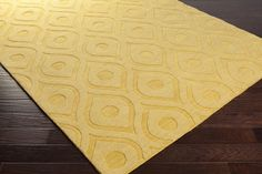 Central Park AWHP-4007 Yellow Modern Premium Wool Rug