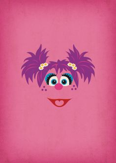 Nursery Decor Geek Art Abby Cadabby Sesame Street by TheRetroInc