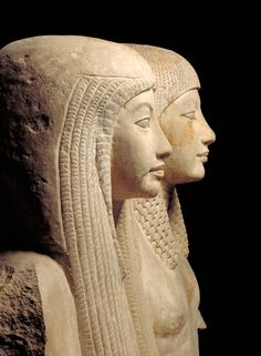 Statue of Maya and Merit.  Object: StatueDating from: c. 1320 B.C.Material: Limestone Size: 158 x 90 x 120 cm ; c. 1000 kgOrigin: Egypt, Saqqara  From: luzfosca & ratak-monodosico