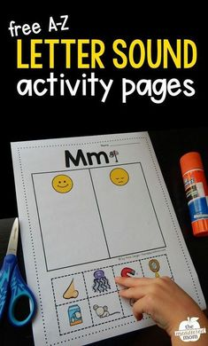 Grab these free beginning letter sound worksheets for kids in preschool and kindergarten. They're super simple! Kids sort the pictures between those that start with the featured letter and those that Teaching Letter Sounds, Teaching Letters, Preschool Letters, Preschool Letter Worksheets, Letters For Kids, Preschool Phonics, Alphabet Sounds, Spanish Alphabet, Handwriting Worksheets