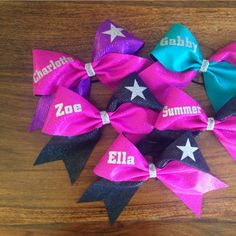 Personalised cheer bows