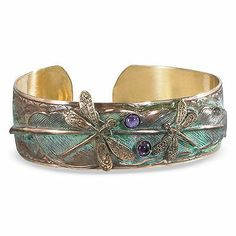 Victorian Style Elaine Coyne Brass and Gemstone Dragonfly Cuff Bracelet in Jewelry & Watches, Fashion Jewelry, Bracelets Fashion Necklace, Fashion Jewelry, Women Jewelry, Trendy Jewelry, Cheap Jewelry, Fine Jewelry, Boho Fashion, Fashion Trends, Dragonfly Jewelry