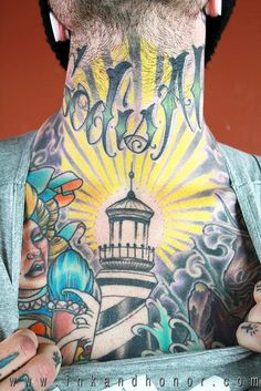 Lighthouse tattoo // Hatteras coloring I see
