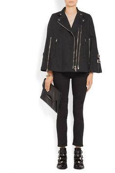 Givenchy - Washed Cotton-blend Canvas Cape - Black - FR38
