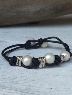 A personal favorite from my Etsy shop https://www.etsy.com/listing/254573349/hand-knotted-freshwater-pearl-bracelet