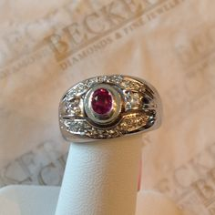 Stunning vintage 14k white gold Diamond and by BeckersJewelersCT