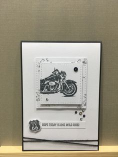 Birthday Cards For Men, Man Birthday, Stampin Up Cards, Men's Cards, Motorcycle Birthday, Masculine Cards, I Card, Making Ideas, Christmas Cards