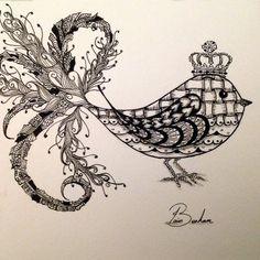 Zentangle zendoodle Bird