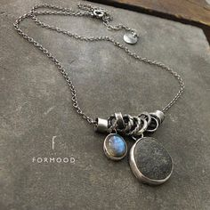 Your place to buy and sell all things handmade Oxidized Sterling Silver, Sterling Silver Necklaces, Pierre Labradorite, Rustic Jewelry, Neck Piece, Beading Ideas, How To Make Earrings, Pendant Earrings, Twinkle Twinkle