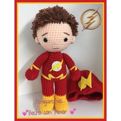 Un flash muy greñudo . #flash #amigurumishechoconamor #hechoamano #❤️ #⚡️. Flash.