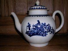 Antique Liverpool porcelain teapot  £127